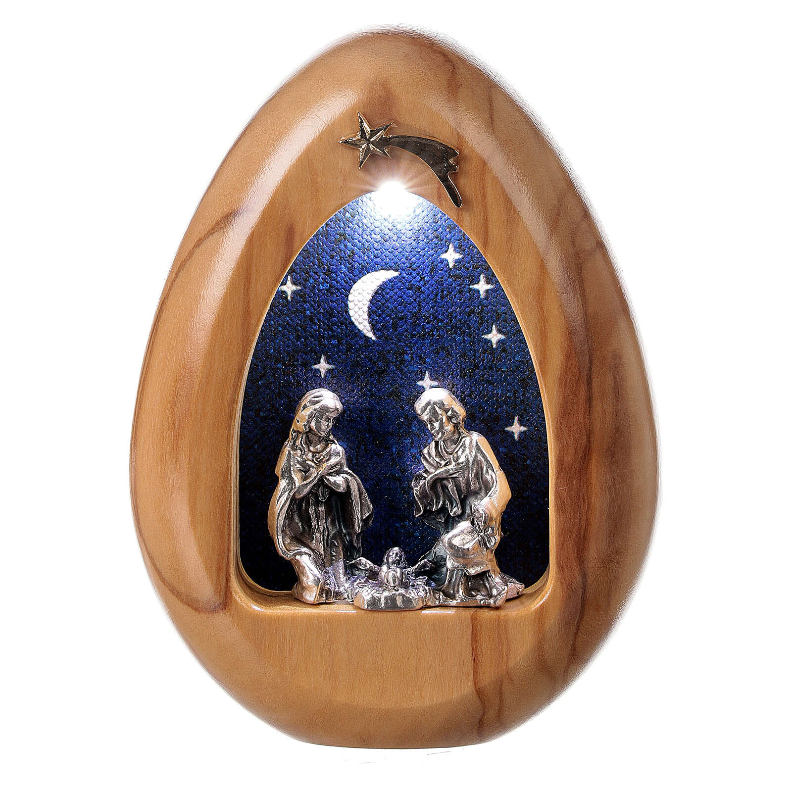 Nativity scene candle with leds and BATTERIES 11X7 cm 3