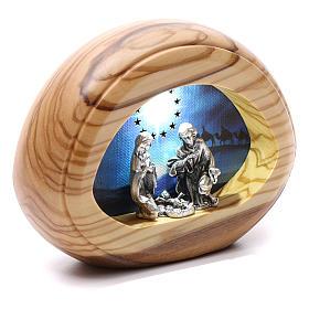 Natività con led e musica BATTERIA 8X10,5 cm s2