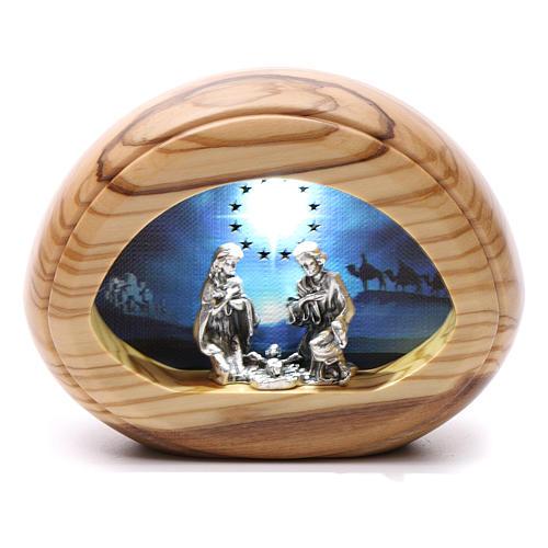 Natività con led e musica BATTERIA 8X10,5 cm 1