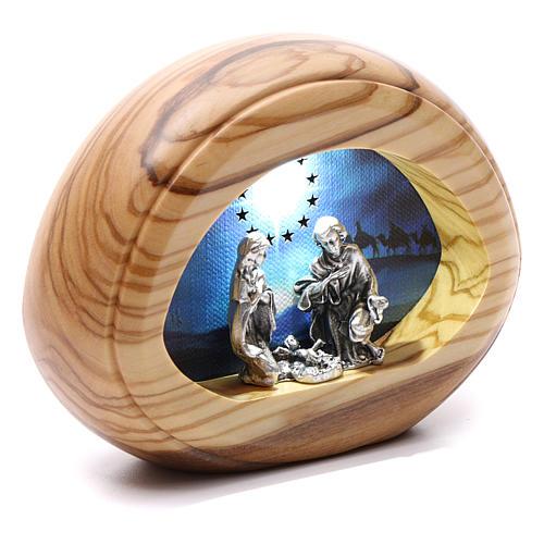 Natività con led e musica BATTERIA 8X10,5 cm 2