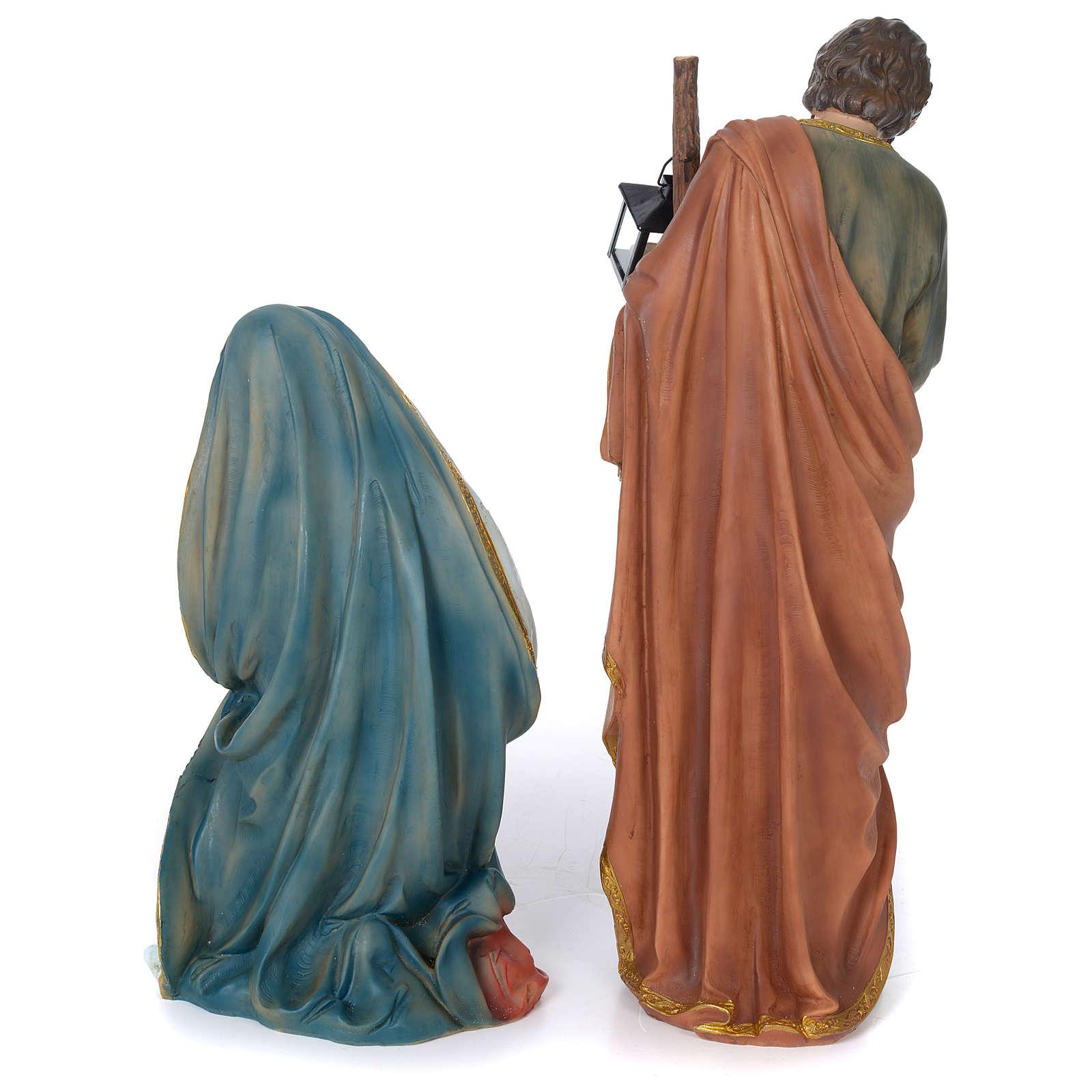 Nativité 60 cm résine peinte 3