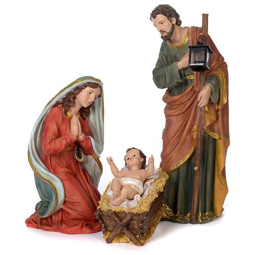 Nativité 60 cm résine peinte 1