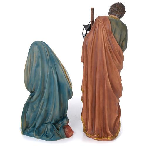 Nativité 60 cm résine peinte 7
