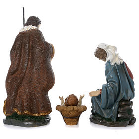 Holy Family with Mary sitting in resin for 60 cm nativity scene s7