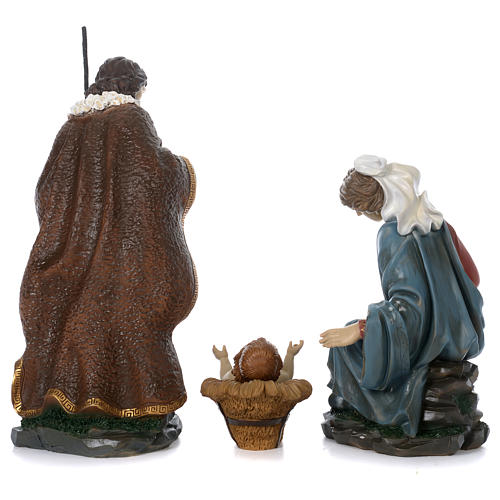 Holy Family with Mary sitting in resin for 60 cm nativity scene 7