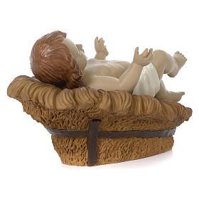 Nativité 60 cm résine peinte Marie assise s6