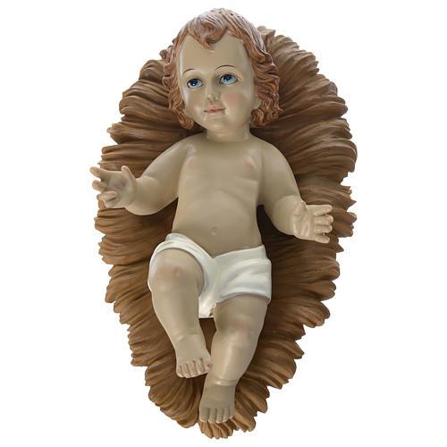 Nativité 60 cm résine peinte Marie assise 2