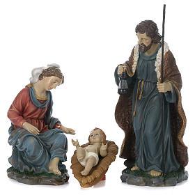 Natività 60 cm resina dipinta Maria seduta s1