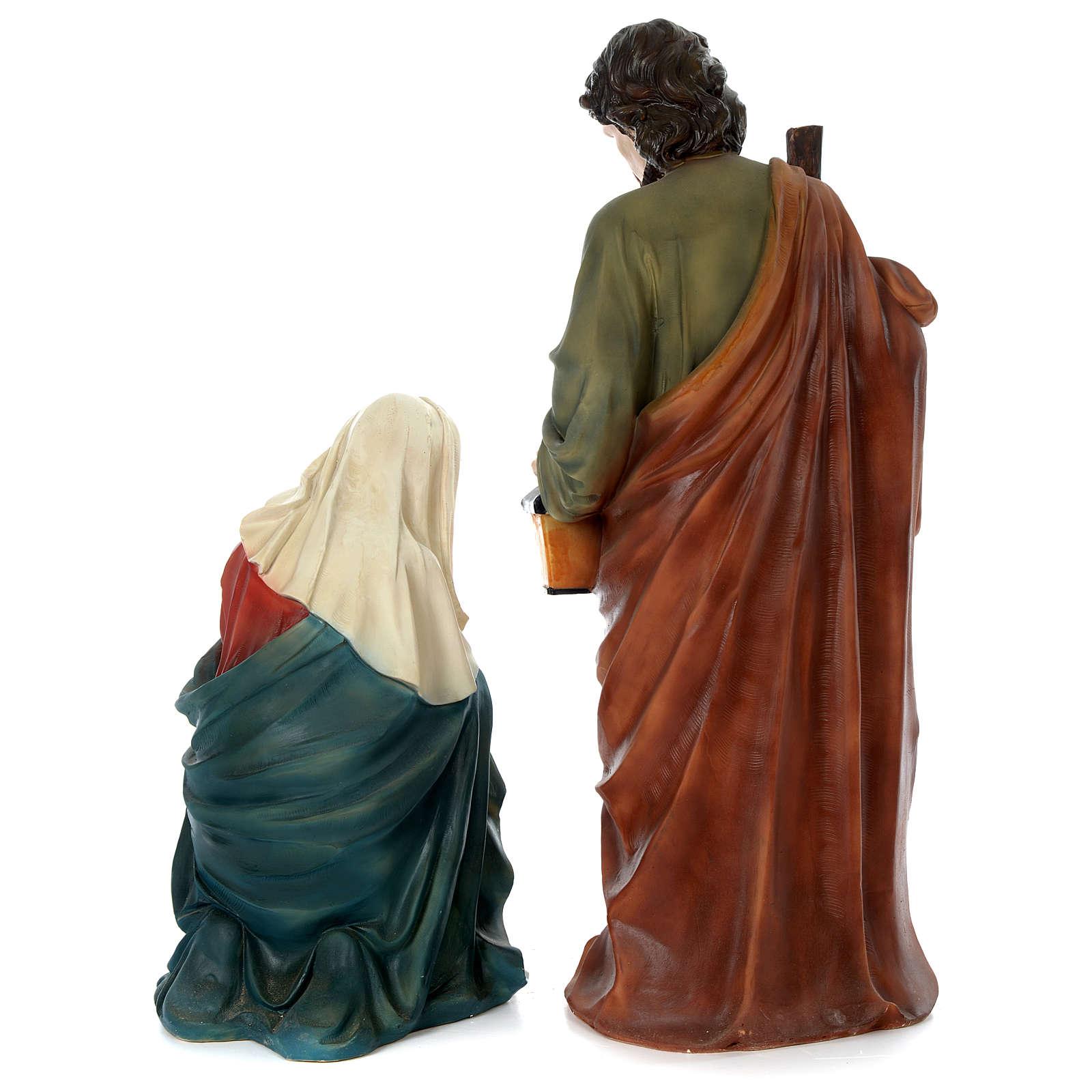 Holy Family for 80 cm nativity scene in painted resin 3