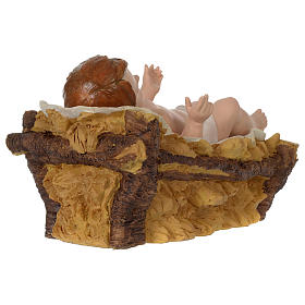 Holy Family for 80 cm nativity scene in painted resin s6