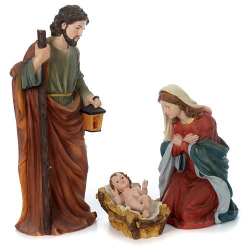 Holy Family for 80 cm nativity scene in painted resin 1