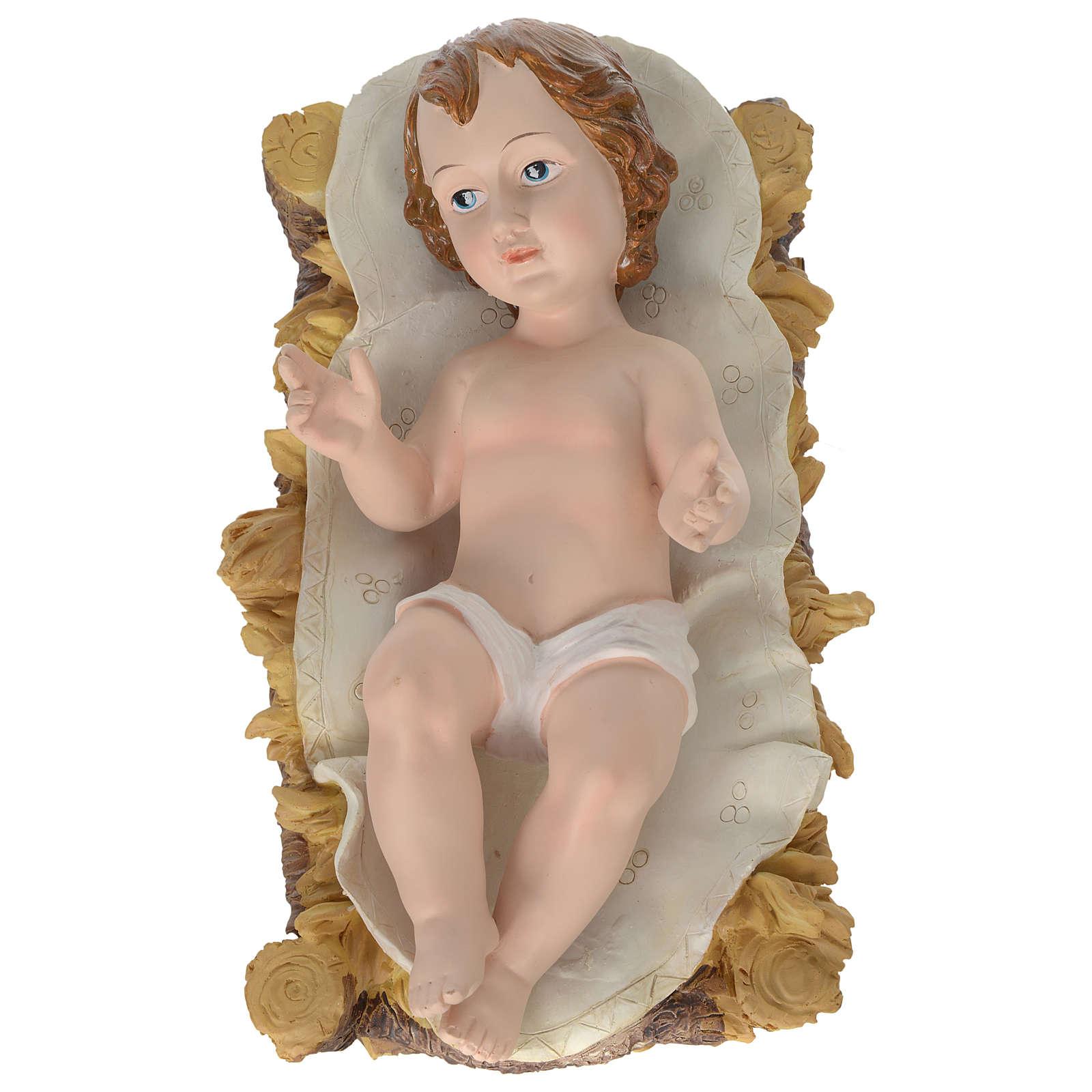 Natividade 80 cm Resina Pintada 3