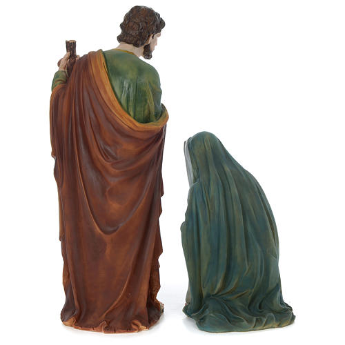 Holy Family 100 cm in painted resin 7