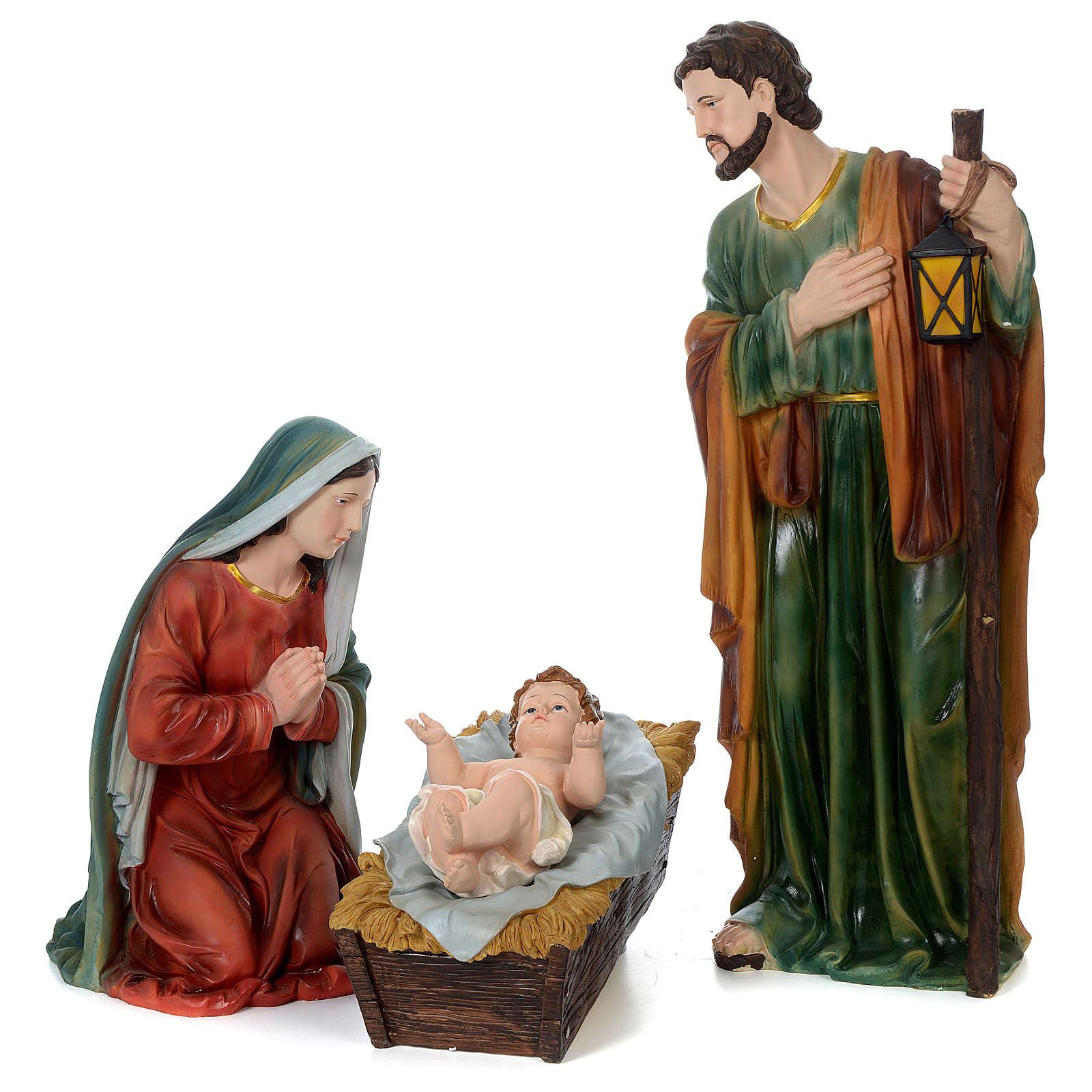 Natividad 100 cm resina pintada 3