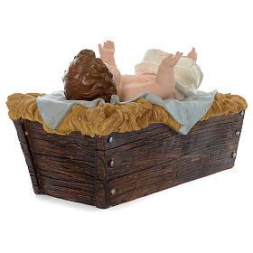 Nativité 100 cm résine peinte s5