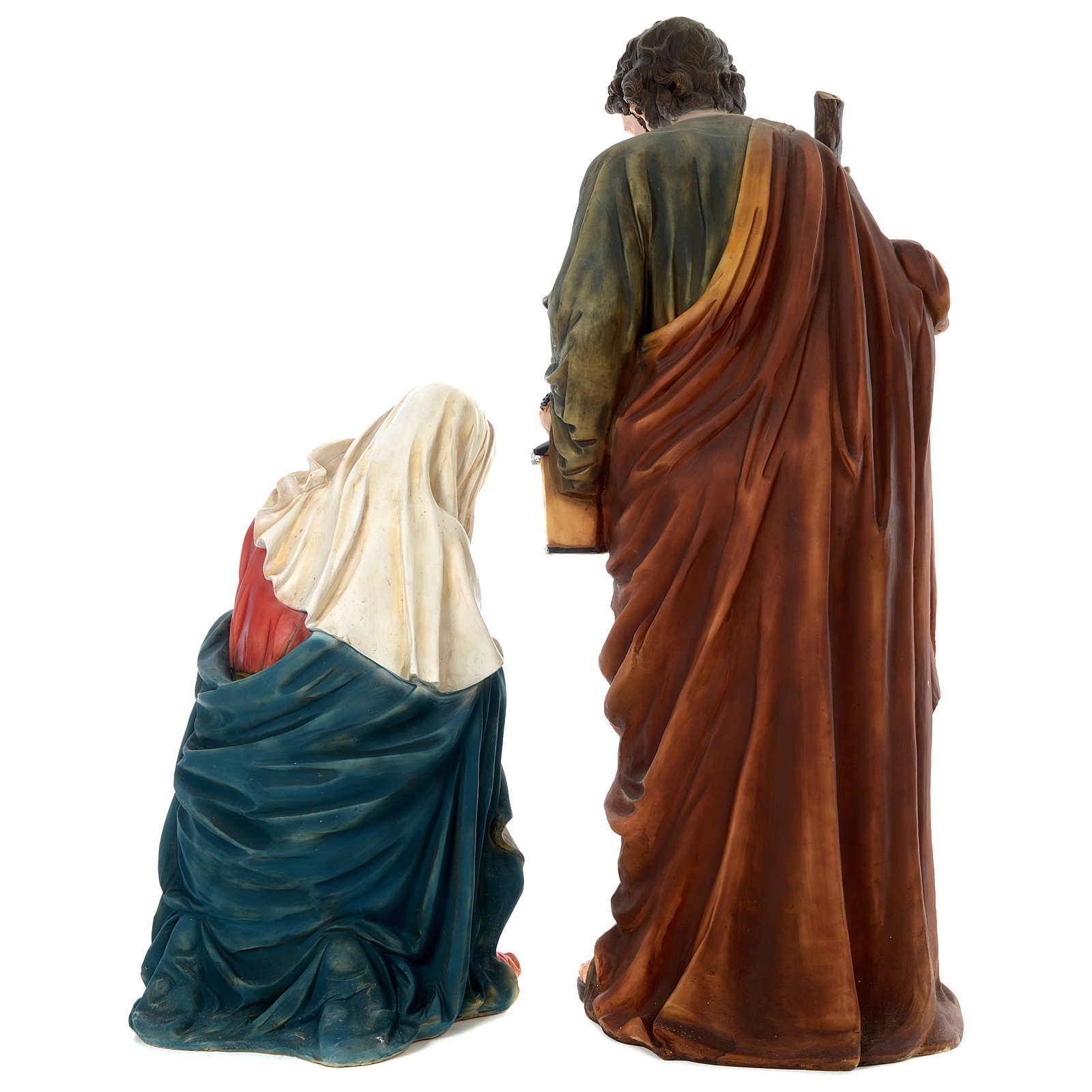Natividad resina pintada con figuras de altura media 150 cm 3