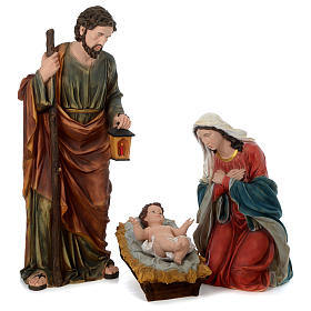 Natividad resina pintada con figuras de altura media 150 cm s1