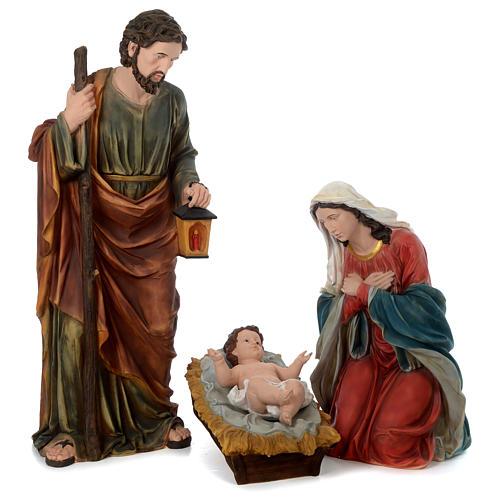 Natividad resina pintada con figuras de altura media 150 cm 1