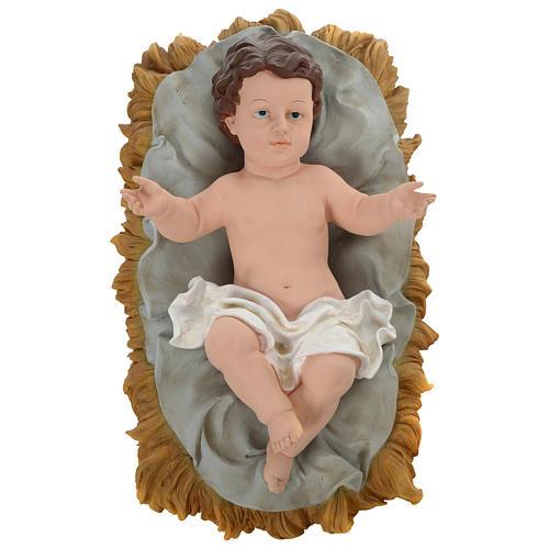 Natividad resina pintada con figuras de altura media 150 cm 2