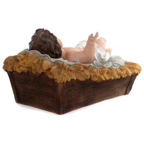Natividad resina pintada con figuras de altura media 150 cm 6