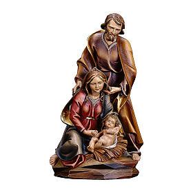 Natività Barocca legno dipinto Valgardena s1