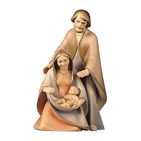 Natività La speranza due pezzi legno dipinto Valgardena s1