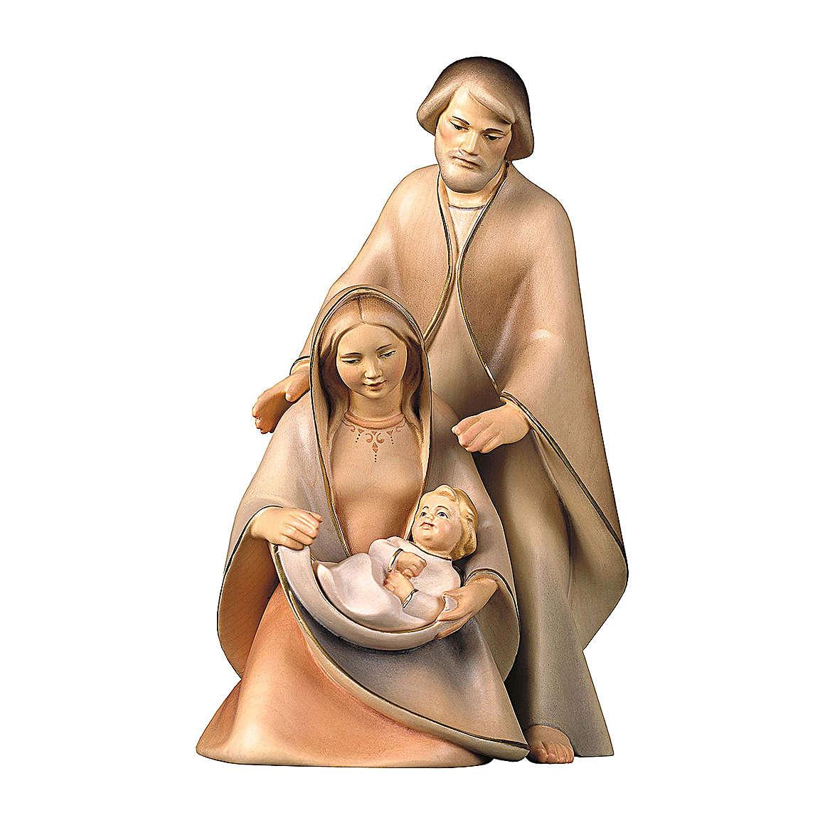 Natività La speranza tre pezzi legno dipinto Valgardena 3