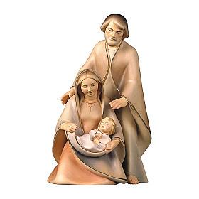 Natività La speranza tre pezzi legno dipinto Valgardena s1