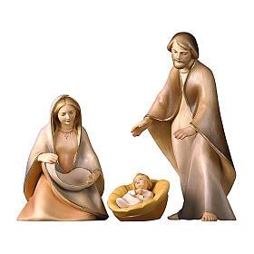 Natività La speranza con culla legno Valgardena s1