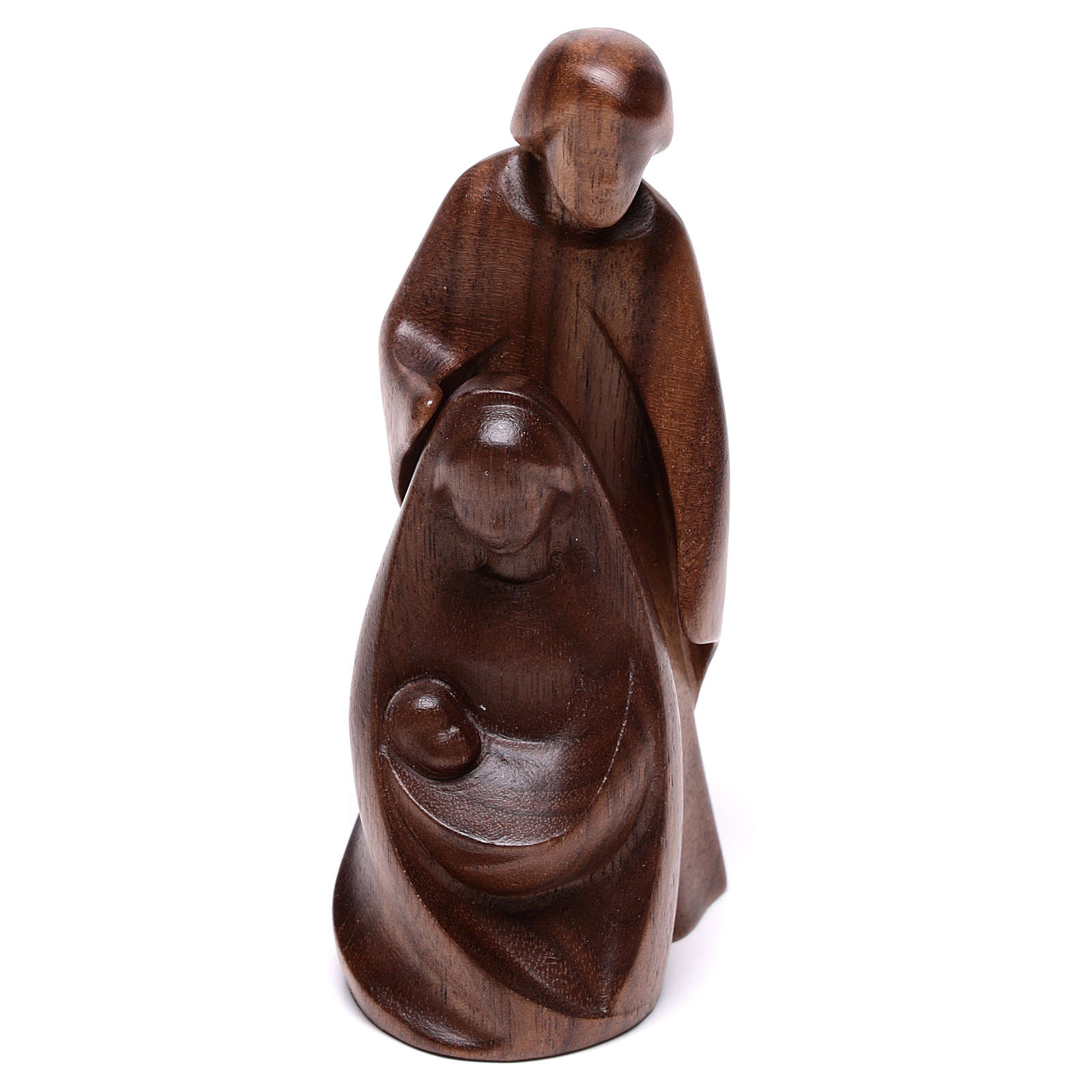 Natività La gioia due pezzi legno noce Valgardena 3