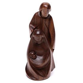 Natività La gioia due pezzi legno noce Valgardena s5
