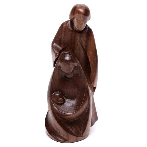 Natività La gioia due pezzi legno noce Valgardena 5