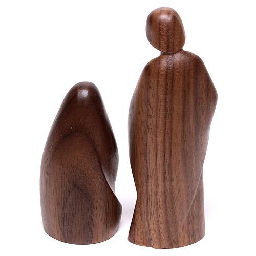 Natività La gioia due pezzi legno noce Valgardena 6