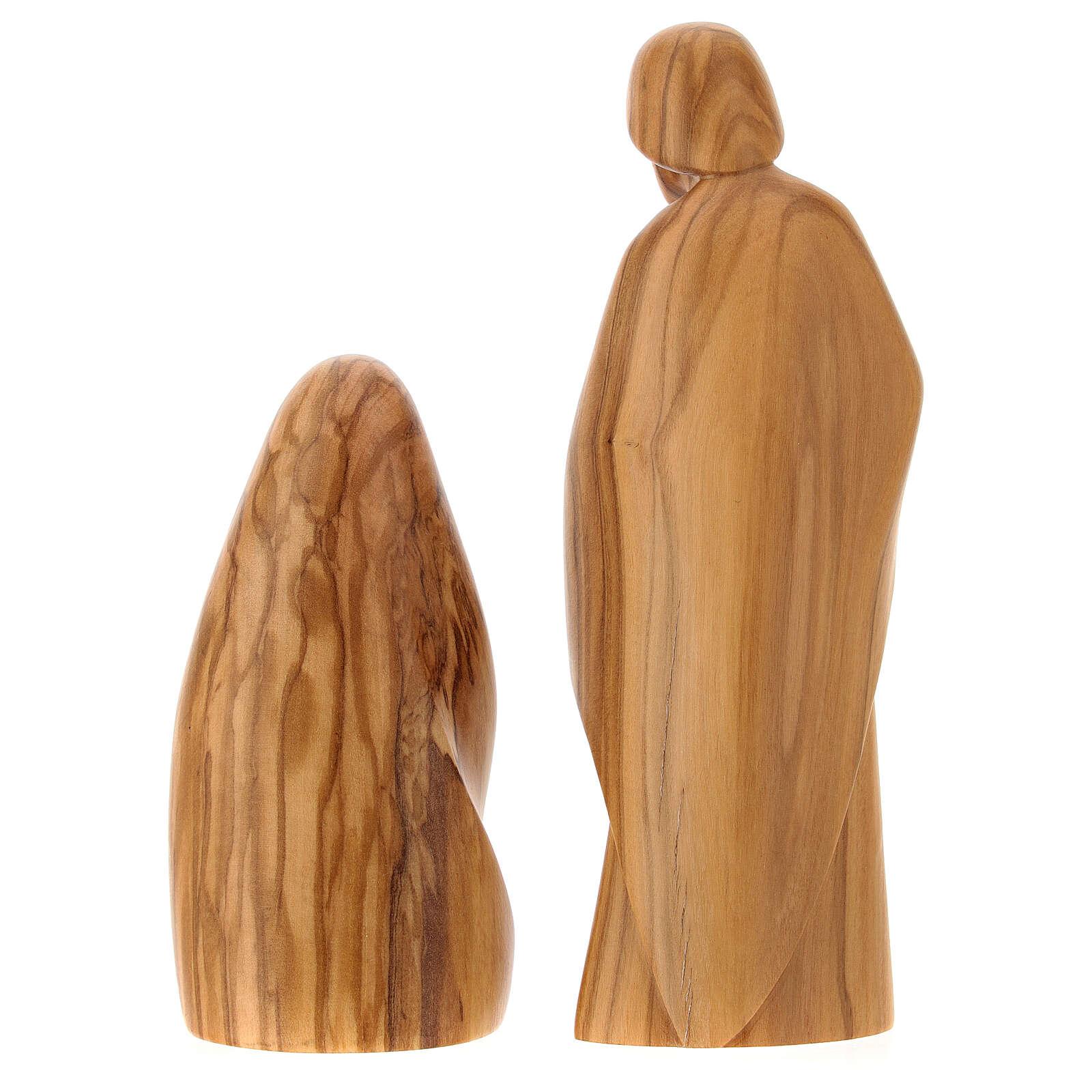Natividad La alegría dos piezas madera olivo Val Gardena 3