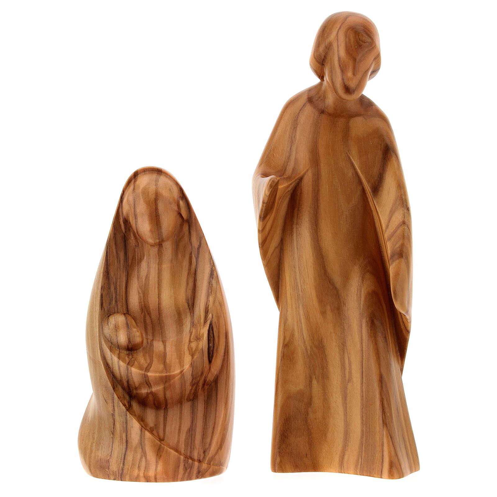 Natività La gioia due pezzi legno ulivo Valgardena 3