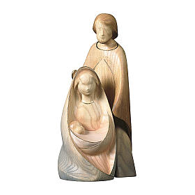 Natività La gioia due pezzi legno ulivo Valgardena s1