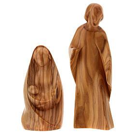 Natività La gioia due pezzi legno ulivo Valgardena s4
