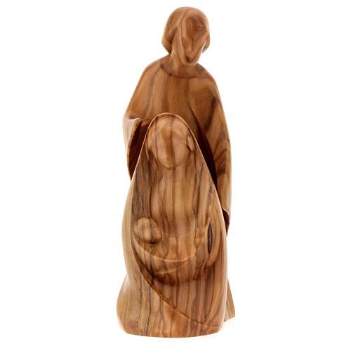 Natività La gioia due pezzi legno ulivo Valgardena 1