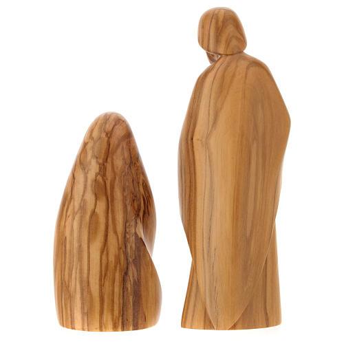 Natività La gioia due pezzi legno ulivo Valgardena 5