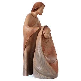 Natività La gioia due pezzi legno frassino acquerello Valgardena s5
