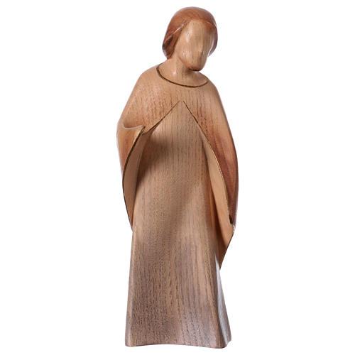 Natività La gioia due pezzi legno frassino acquerello Valgardena 3