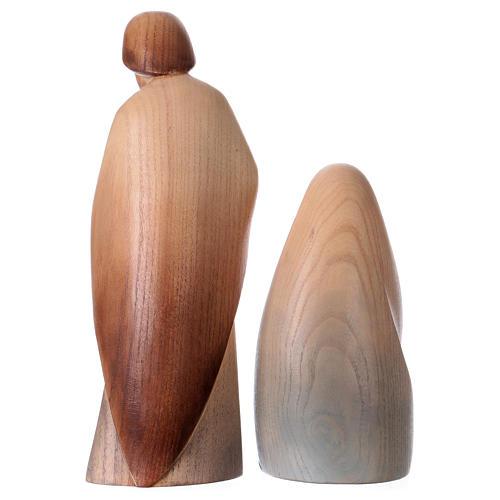 Natività La gioia due pezzi legno frassino acquerello Valgardena 6