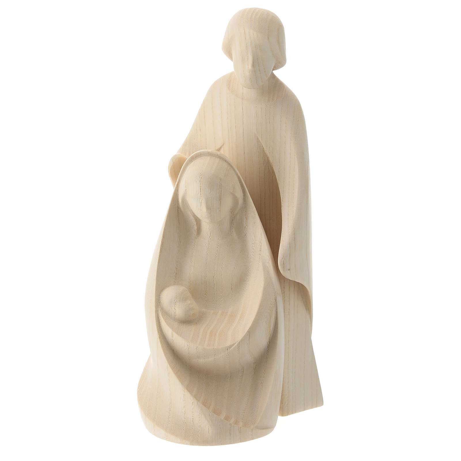 Natività La gioia due pezzi legno frassino legno naturale Valgardena 3