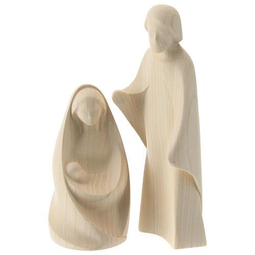 Natività La gioia due pezzi legno frassino legno naturale Valgardena 1