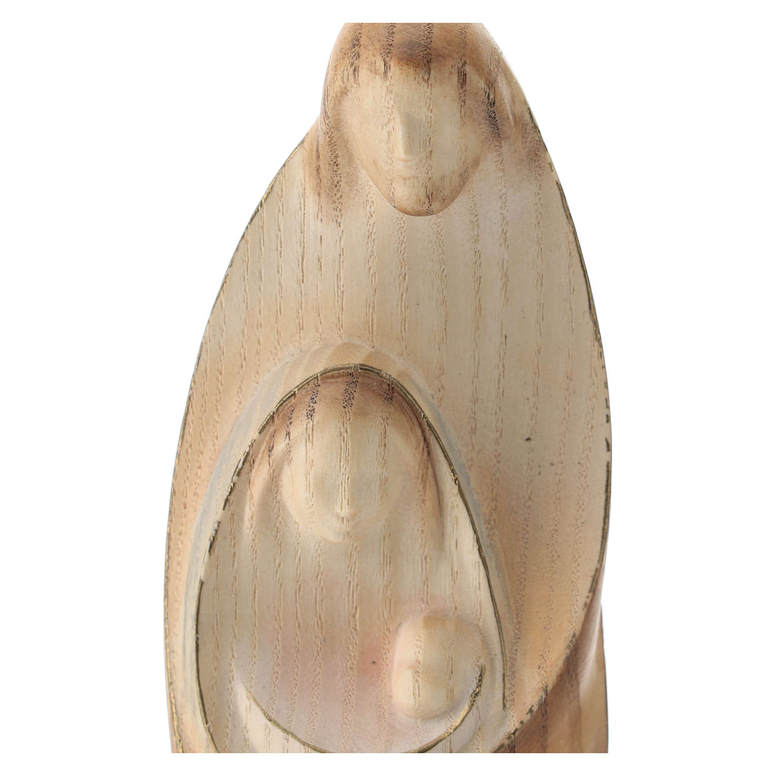 Natividad La ternura madera fresno acuarela Val Gardena 3