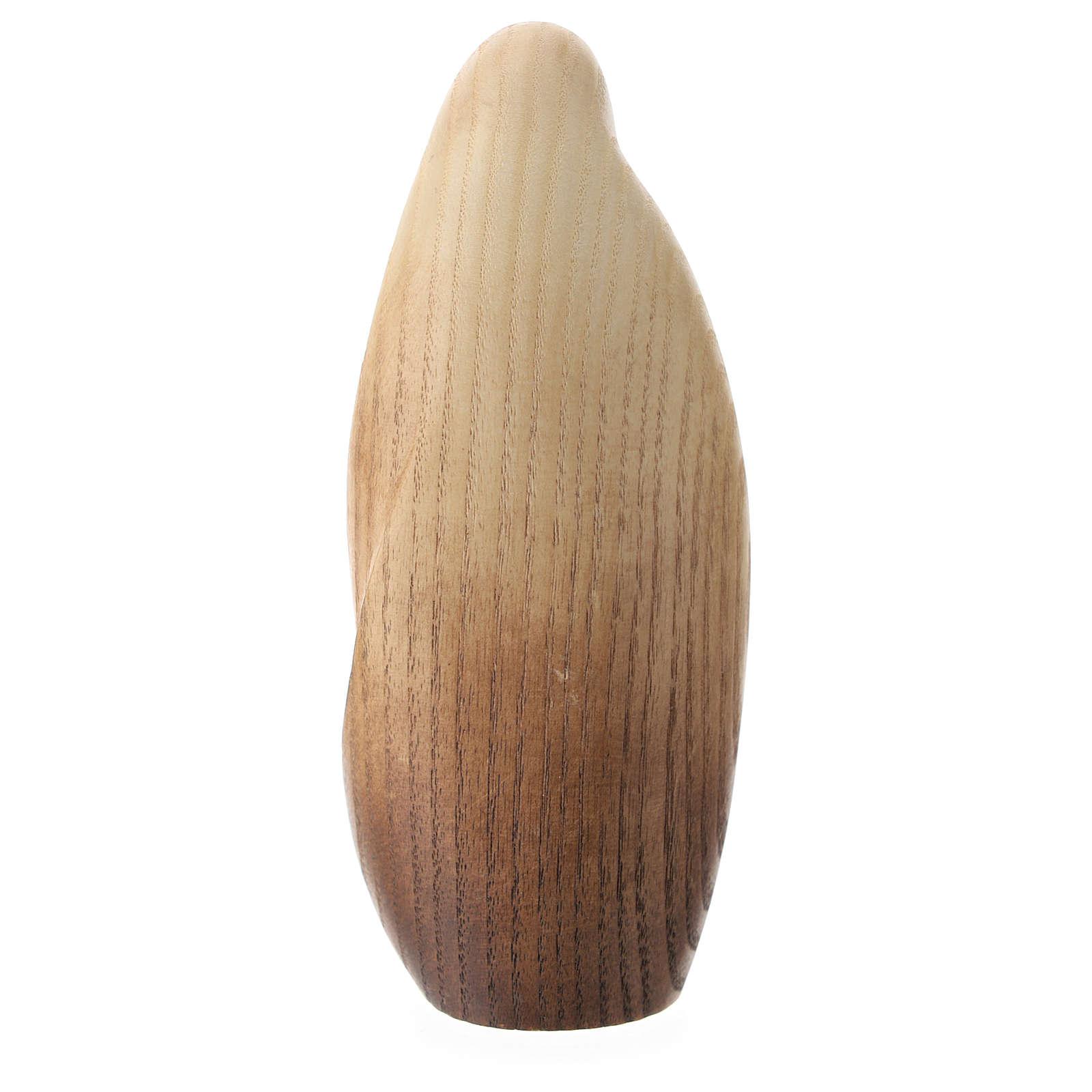Natività La tenerezza legno frassino acquerelli Valgardena 3