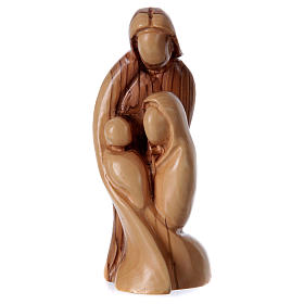 Statua Sacra Famiglia stilizzata Ulivo di Betlemme 20 cm s1