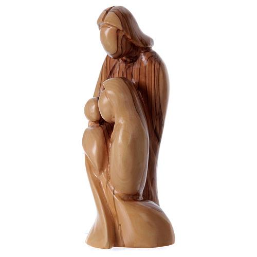 Statua Sacra Famiglia stilizzata Ulivo di Betlemme 20 cm 2