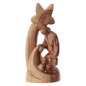 Nativity scene in Bethlehem olive wood, stylized 15 cm s1