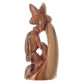 Nativity scene in Bethlehem olive wood, stylized 15 cm s4